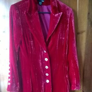 Luscious Crushed Velvet Jacket
